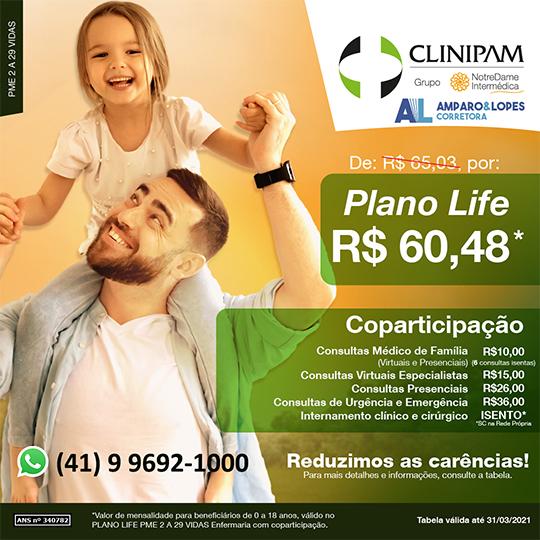 Clinipam GNDI Curitiba plano LIFE